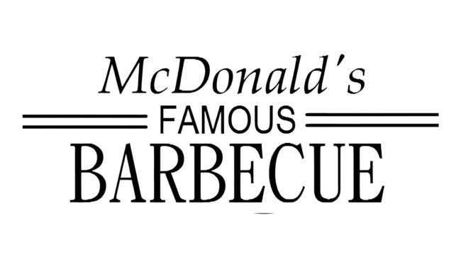 McDonald's Famous Barbecue Logo 1940–1948
